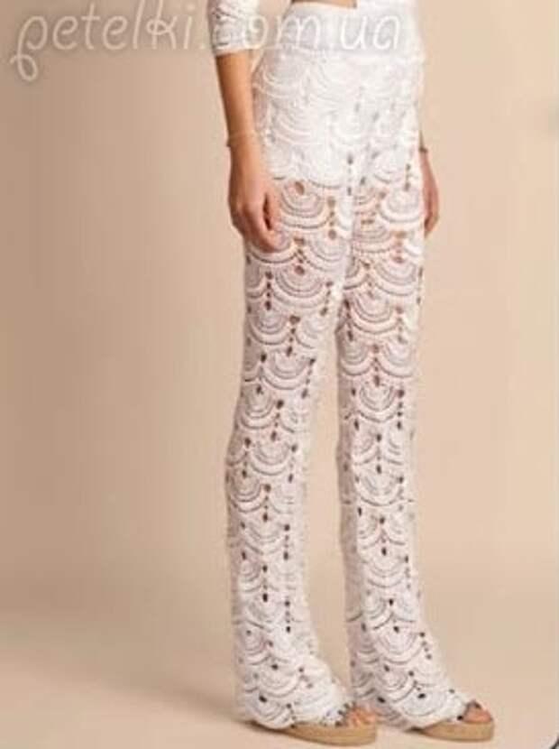 Шикарные ажурные брюки крючком от Джованны Диас