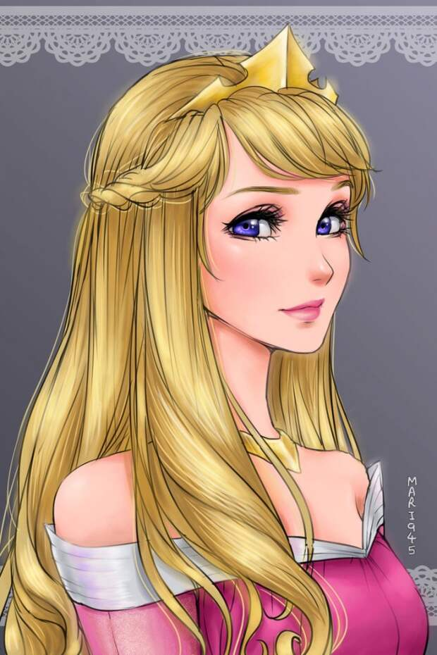 Вот как бы выглядели принцессы Диснея, если бы они были персонажами аниме