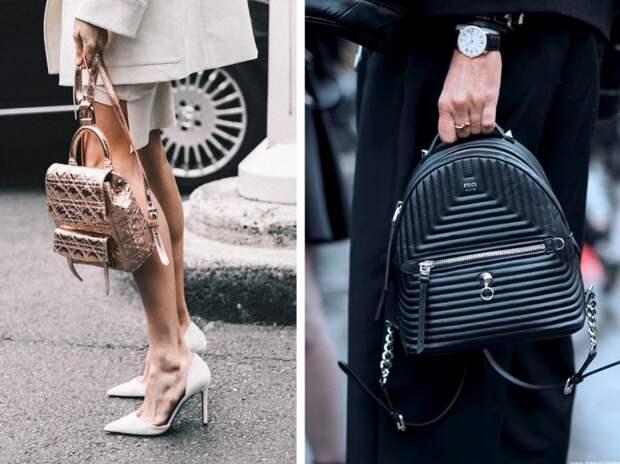 Рюкзаки на модных улицах города (трафик)