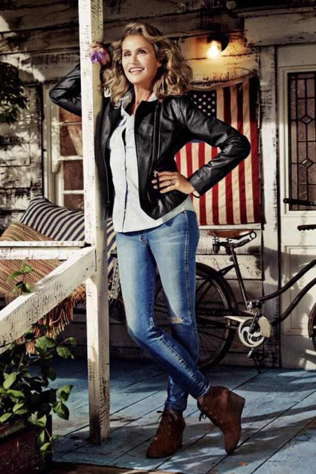 Лорен Хаттон (Lauren Hutton). Возраст: 69 лет. Кампания: Lucky Brand's.