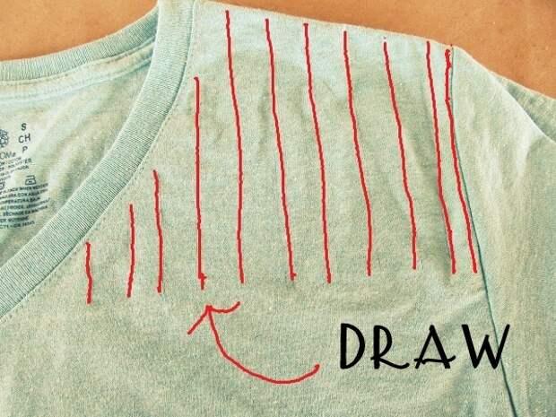 Переделка футболок в стильный наряд без использования швейной машинки