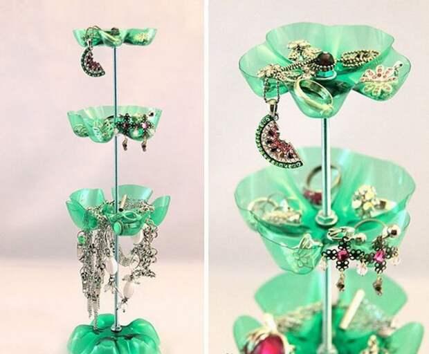 Подставка для ювелирных украшений бутылка, пластик