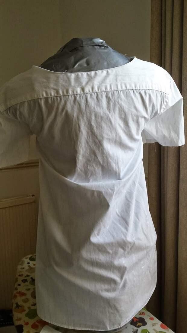как стильно перешить мужскую рубашку