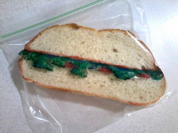Downright tricky maneuvering makes a sandwich look like a sandwich even though… it's a sandwich.