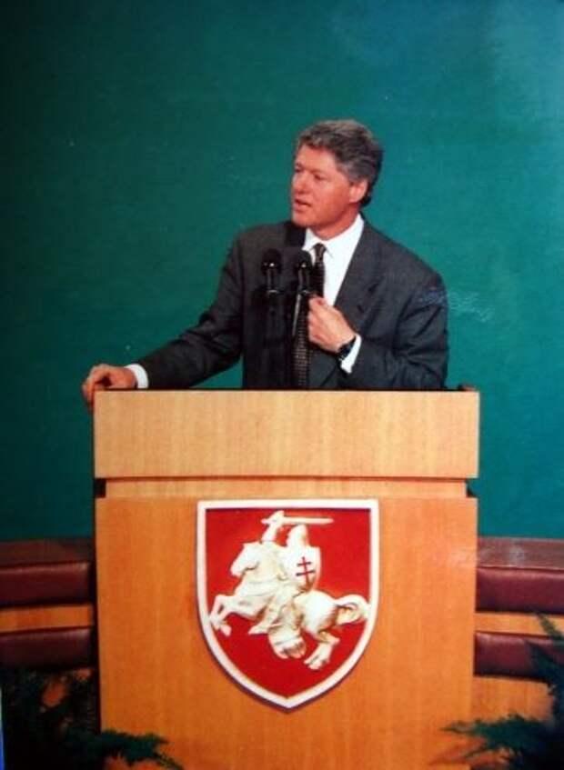 Билл Клинтон в Минске, январь 1994.