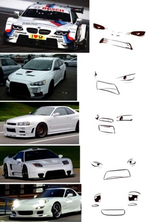 АВТОМОТО. 45 автомобилей, у которых есть свое лицо