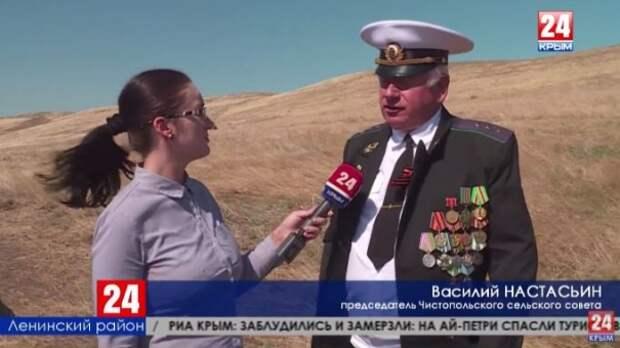 В Ленинском районе открыли памятник защитнику Крыма Дмитрию Андрееву