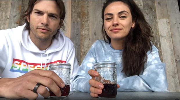 Мила Кунис и Эштон Катчер выпустили «Карантинное вино»