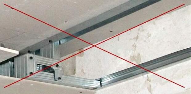 Обрешетка из металлического профиля под гипсокартон