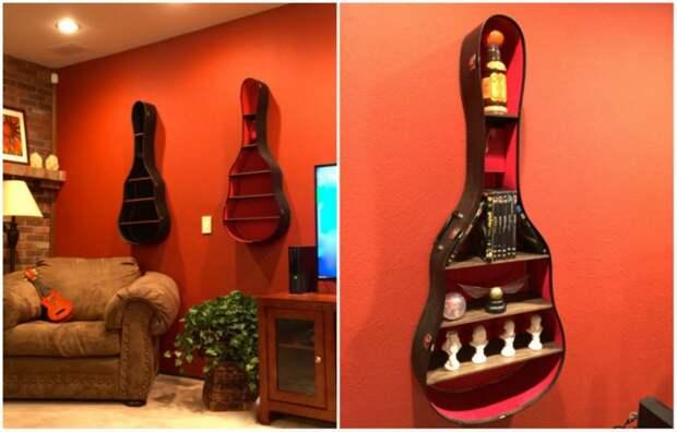 Полки из гитар