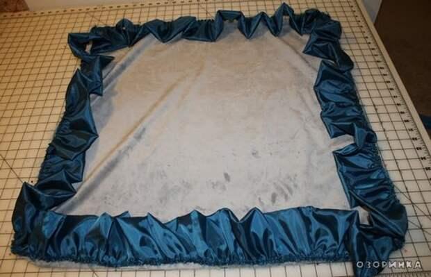 обшитые края одеяла