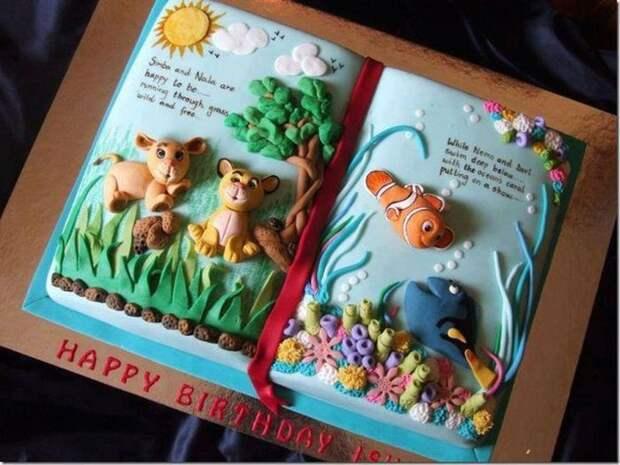 Непростая мультяшная история еда, торт