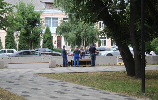 В Рязани отчитались о благоустройстве новой зоны отдыха и реконструкции ограждения «Наташиного» парка