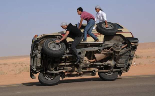 9. Саудовцы автопутешествие, водители