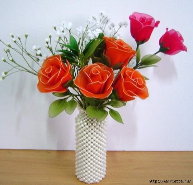 Розы из капрона. Красивые идеи и мастер-класс (31) (547x523, 174Kb)