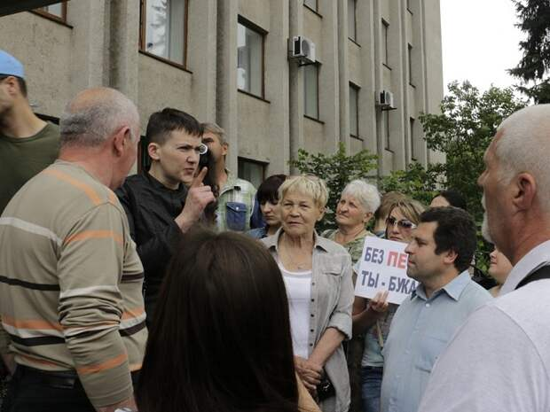 Савченко в оккупированном Славянске пообещала «сгореть» (ФОТО, ВИДЕО)