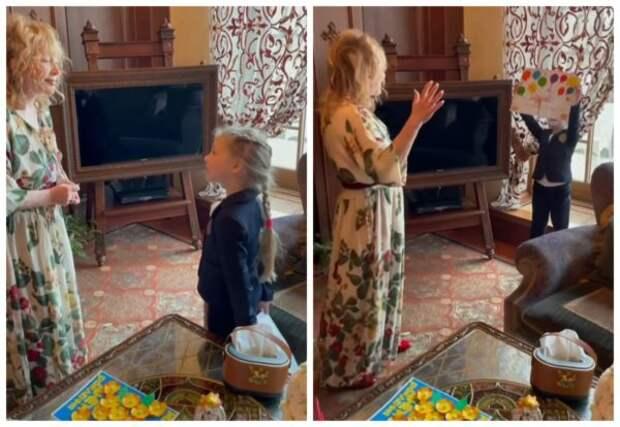 День рождения Аллы Пугачевой, поздравление Лизы
