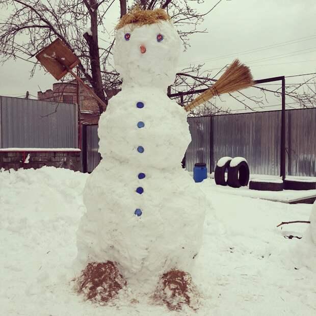 Думаете это странный снеговик от папы? отец психанул, папа жжёт, папы