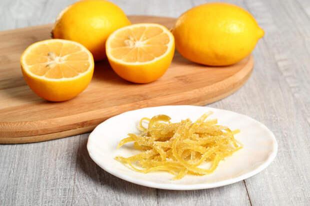 Цукаты из лимонных корочек