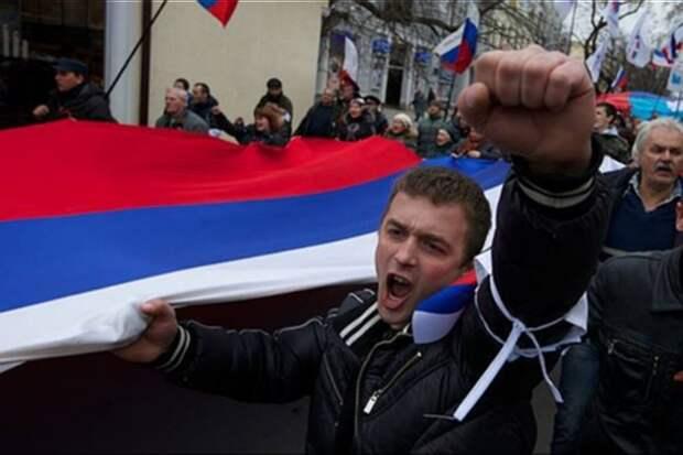 Демонстрация в честь вхождения Крыма в состав России прошла в столице Швейцарии