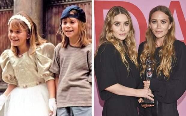 сестры олсен в детстве и сейчас