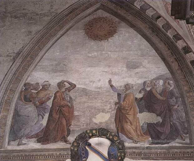 Косматая звезда. Картина Доменико Гирландайо (1485 год).