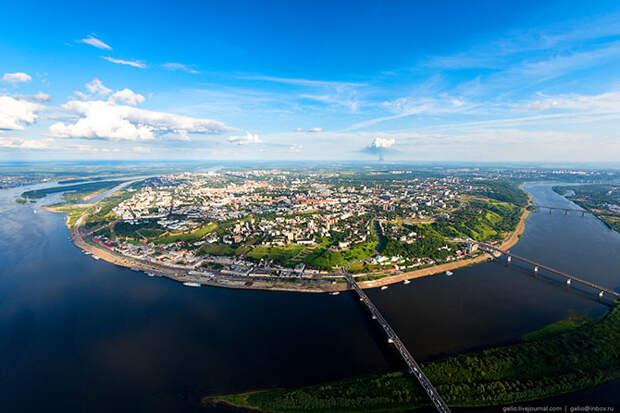 Нижний Новгород с вертолета