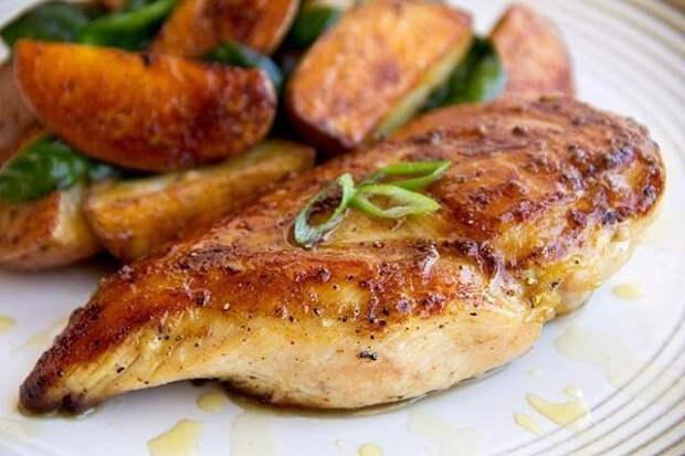 ПОХУДЕЙКИНЫ РЕЦЕПТЫ. Курица запеченная с грибами и томатной пастой