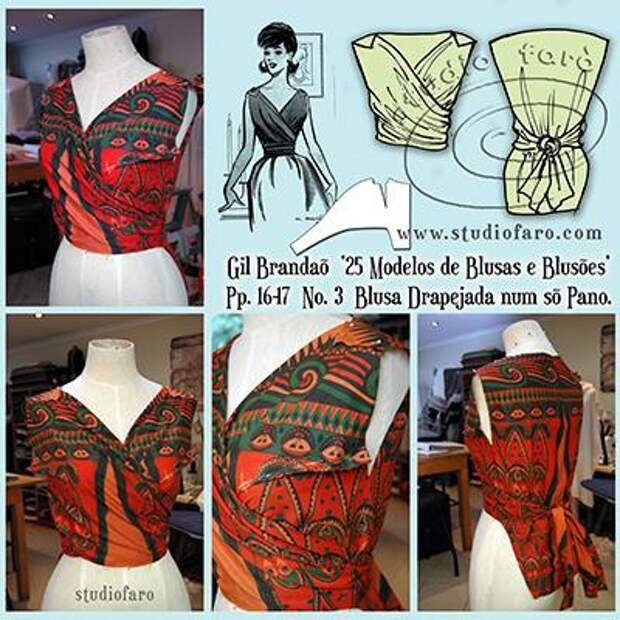 Две креативные ретро выкройки блуз
