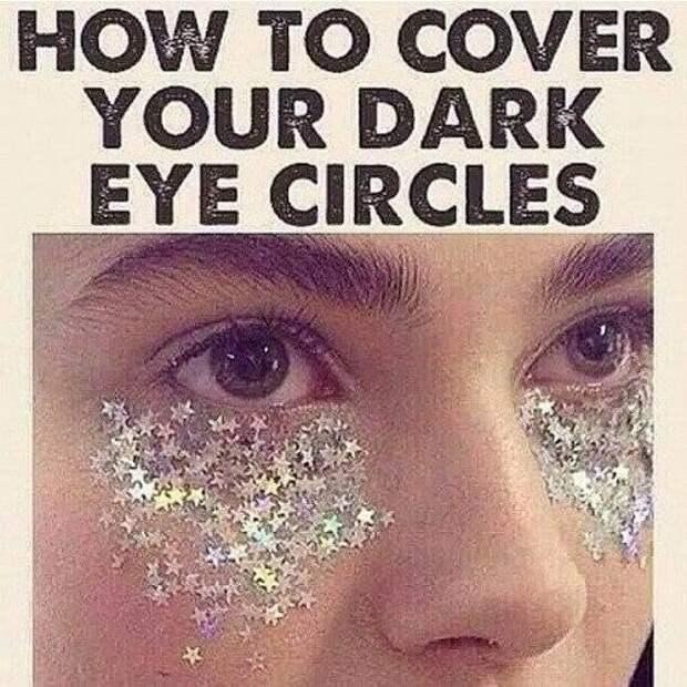 Скрываем синяки под глазами