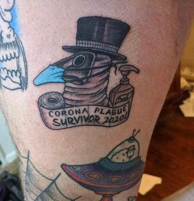 Эти 10 человек решили запомнить коронавирус навсегда и набили тату