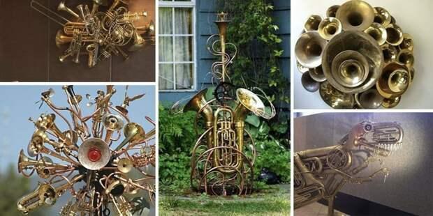 Новая жизнь старых вещей: музыкальные инструменты в интерьере