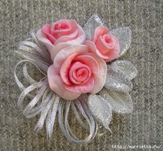 Розы из капрона. Красивые идеи и мастер-класс (29) (403x374, 156Kb)