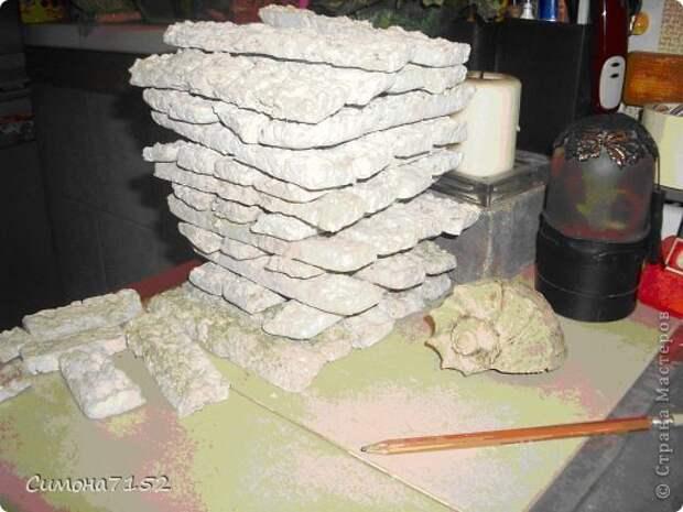 Интерьер Мастер-класс Папье-маше Процесс декорирования стены камнем из бумаги Бумага фото 8