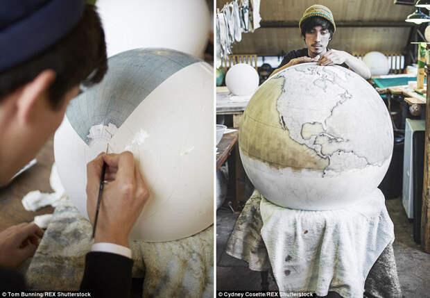 Глобусы ручной работы