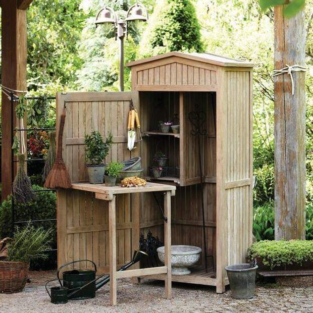 Садовый сарай-шкаф