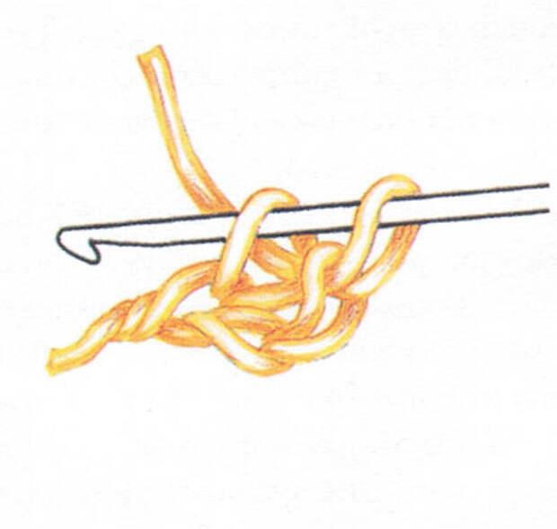 Двойная цепочка из воздушных петель (фото 6)