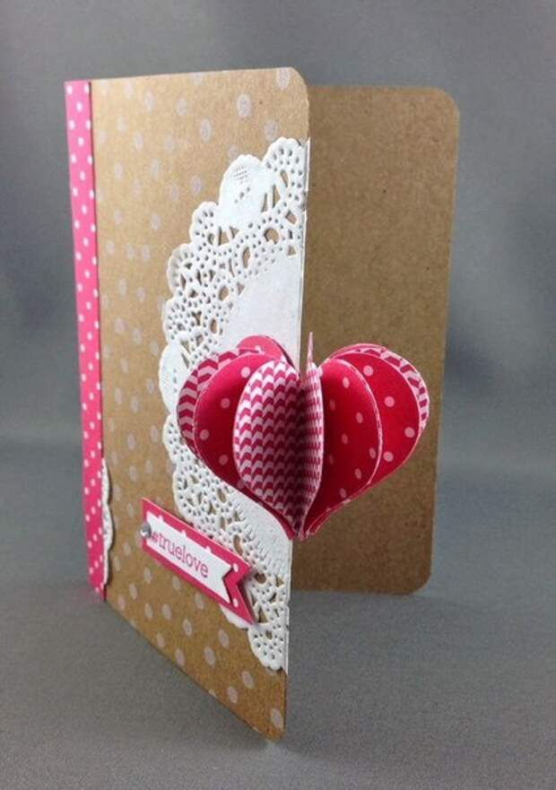 Необычная открытка с сердцем