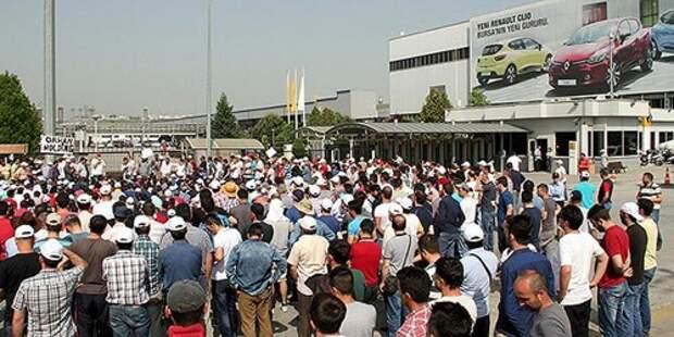 Забастовка автомобильных рабочих в Турции