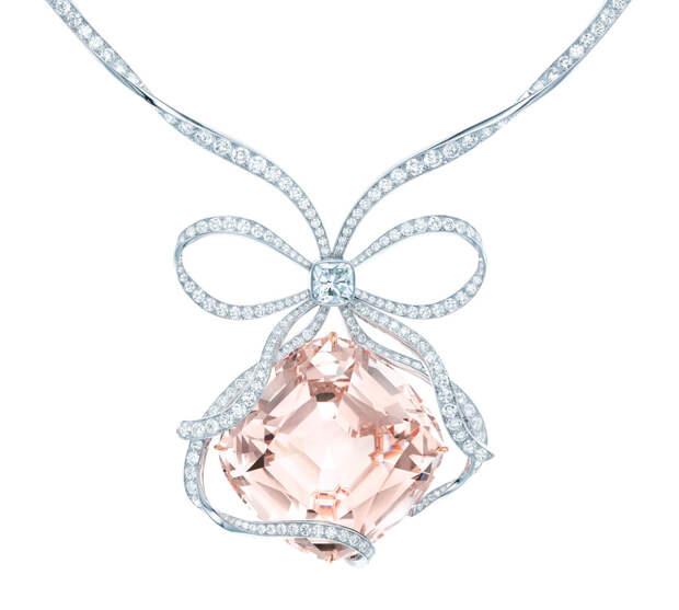 The Tiffany Anniversary Morganite necklace, cush