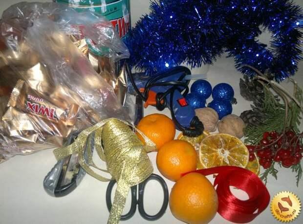 Часы из конфет - новогодний подарок (мастер-класс)