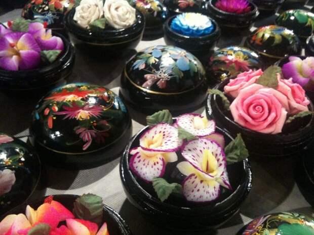 Цветы из туалетного мыла