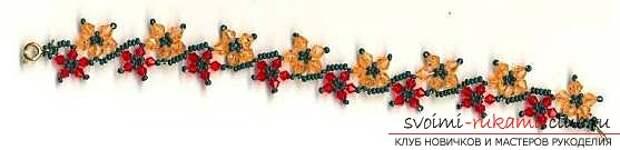 Схемы для браслетов из бисера.. Фото №3