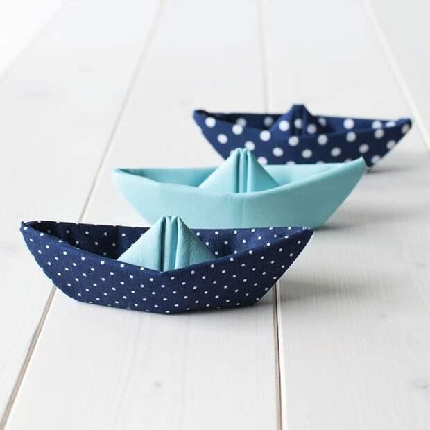 Текстильные кораблики. Идея