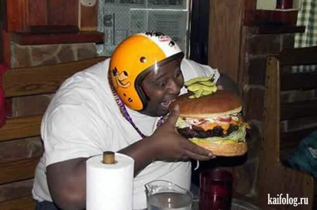 Большому человеку - большой бургер всячина, радости, смешное, толстые, юмор