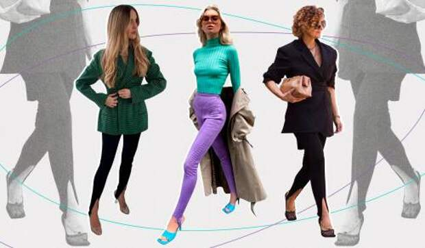 В этом сезоне носим легинсы со штрипками в стиле 1990-х, как у звезд и модных блогеров