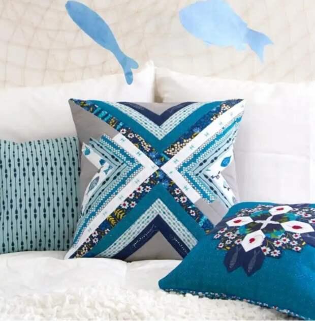 Красивые пэчворк подушки (идея)