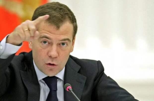 """Медведев пригрозил """"королям бензоколонок"""" строгим взысканием"""