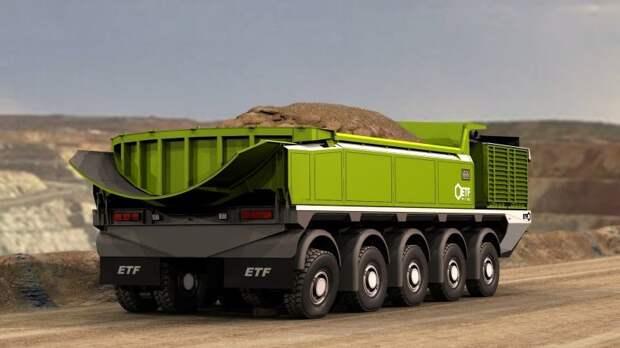 Самый большой грузовик в мире из Словении грузоподъемностью 760 тонн ETF Mining Equipment, авто, белаз, гигант, грузовик, карьерный самосвал, самосвал, спецтехника