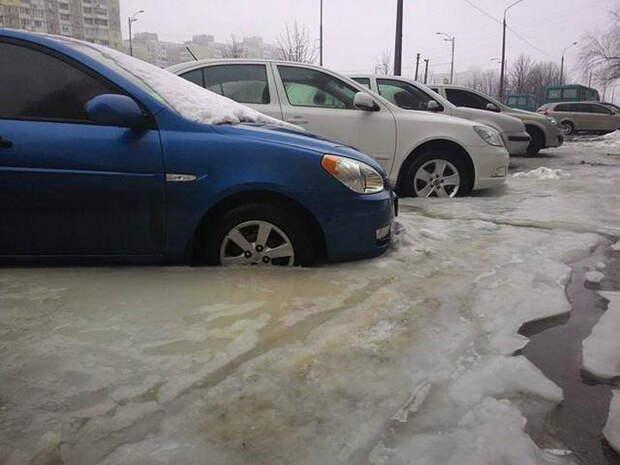 Жертвы погодных обстоятельств авто, киев, лед